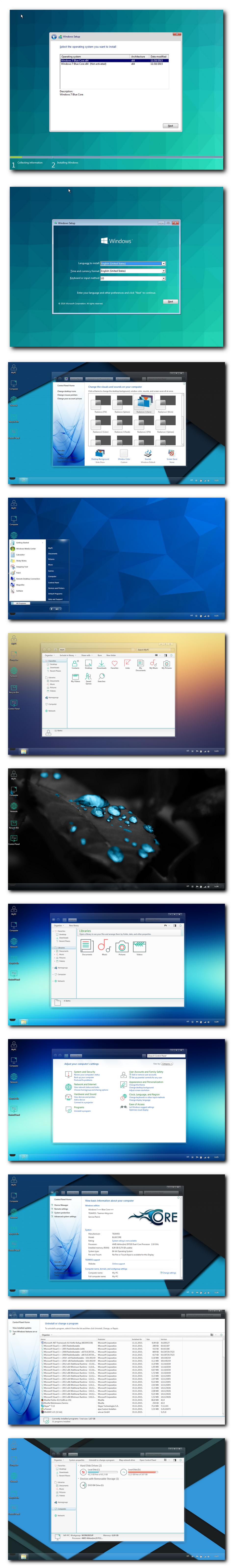 Windows 7 Blue Core (64bit) Axeswy & Tomecar