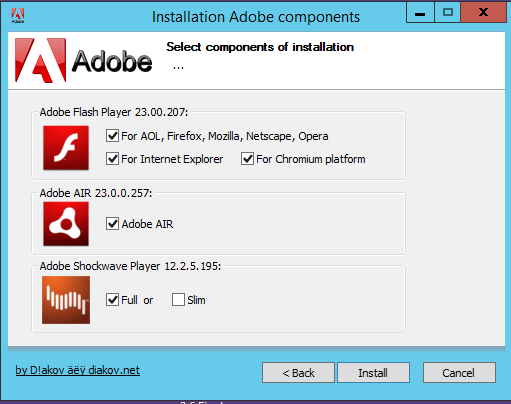 Direct - Adobe Components:flash Player + Air + Shockwave