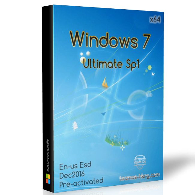 Windows 7 SP1 Ultimate x64 en-us Pre-Activated