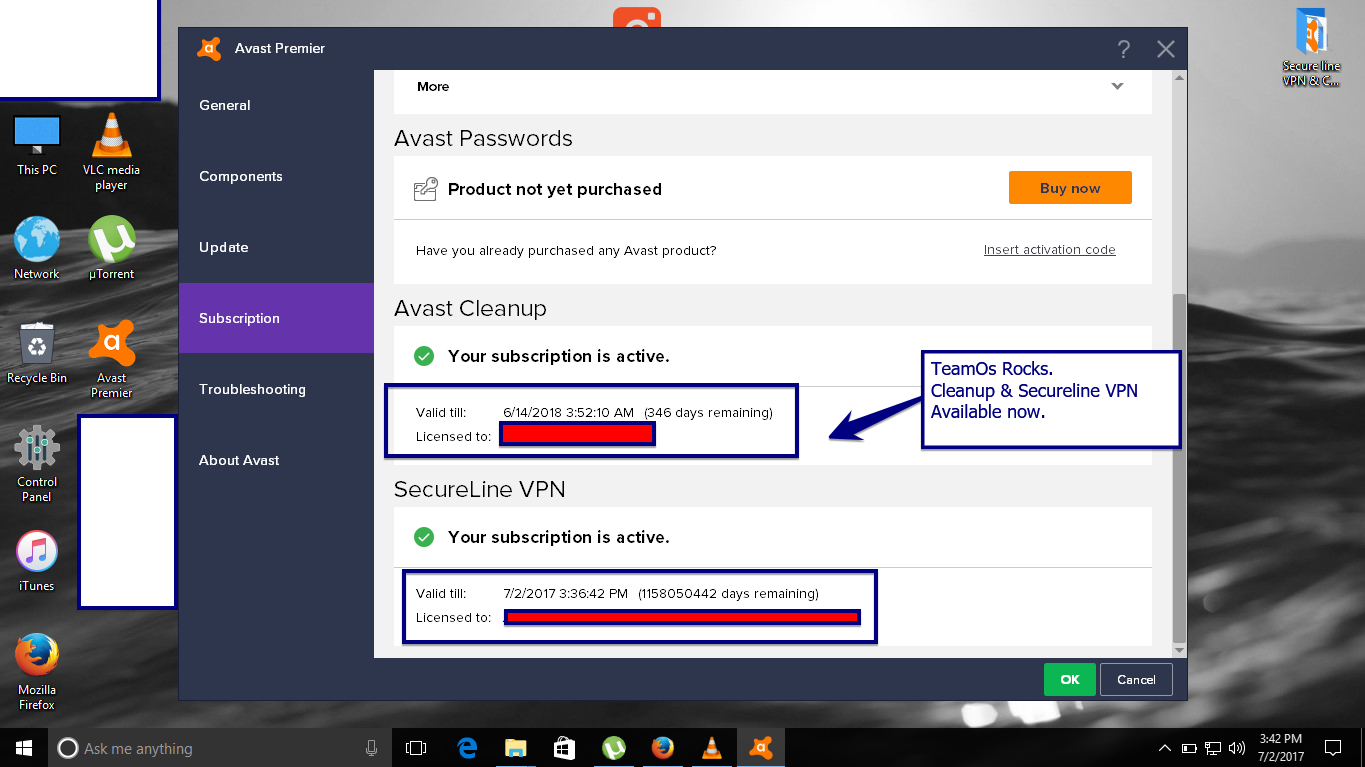 Avast premier license key for secure vpn