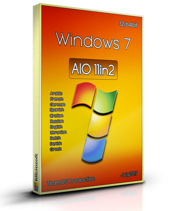 Windows 7 Sp1 AIO (x86/x64) 11in2 (Multilanguage) Sept2017