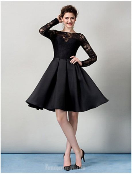 AUSTRALIA COCKTAIL PARTY DRESS BLACK A-LINE JEWEL SHORT KNEE-LENGTH LACE   Product Code: 7971 Availability: In Stock Offer Price: $141.99  https://www.formalgownaustralia.com/shop-by-color/green-formal-dresses  Free Shipping Coupon code: freeship  on any order from Formalgownaustralia.com