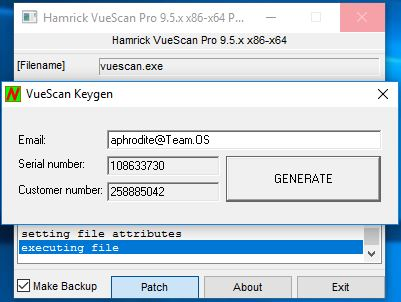 serial number vuescan 9 x64