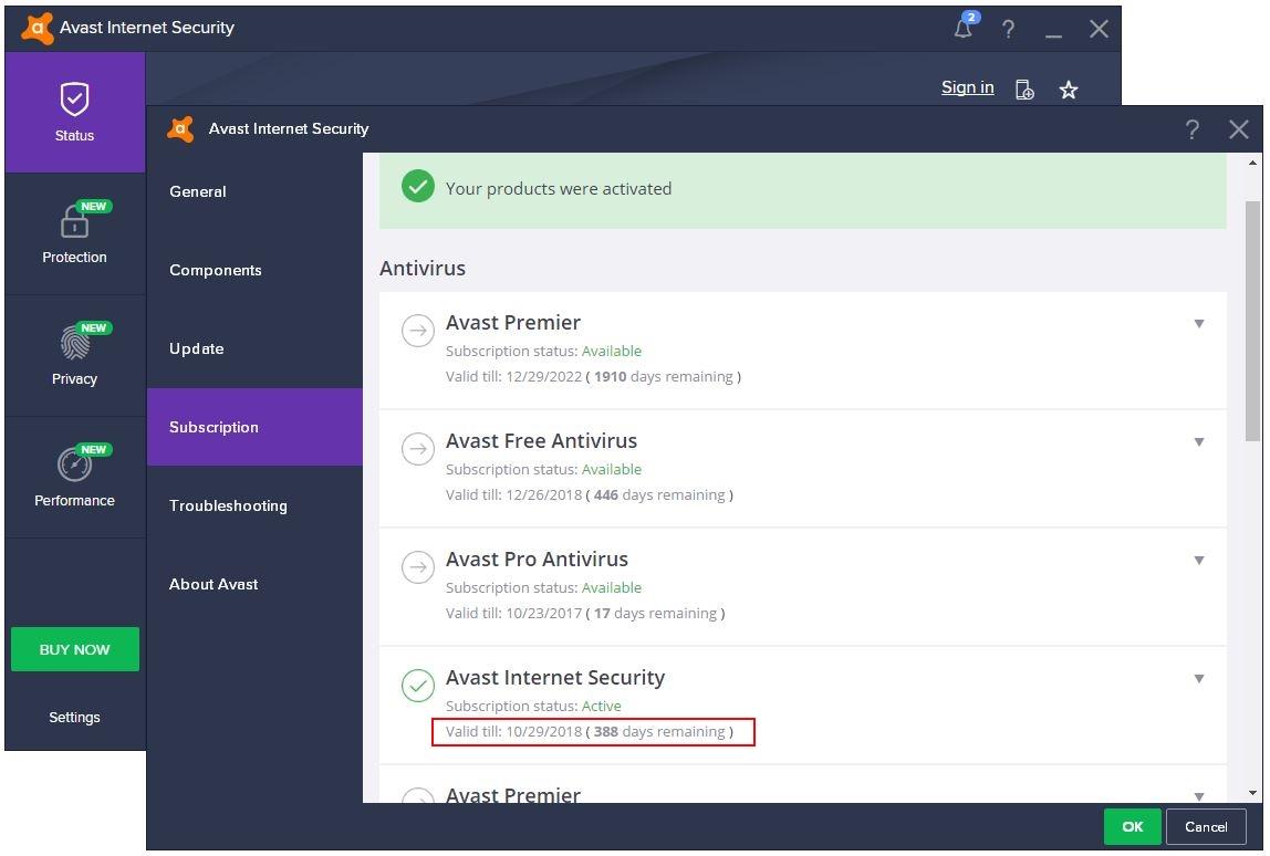avast 2017 internet security license file
