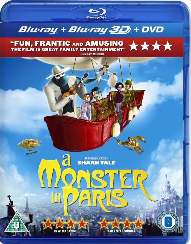 A Monster In Paris(2011) BRRip 720p x264   [Dual Audio][English + Hindi]