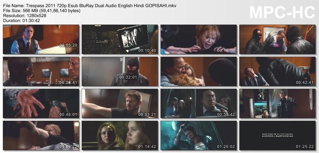 Trespass (2011) 720p BluRay x264 Esub [Dual Audio] [Hindi+English] - GOPISAHI