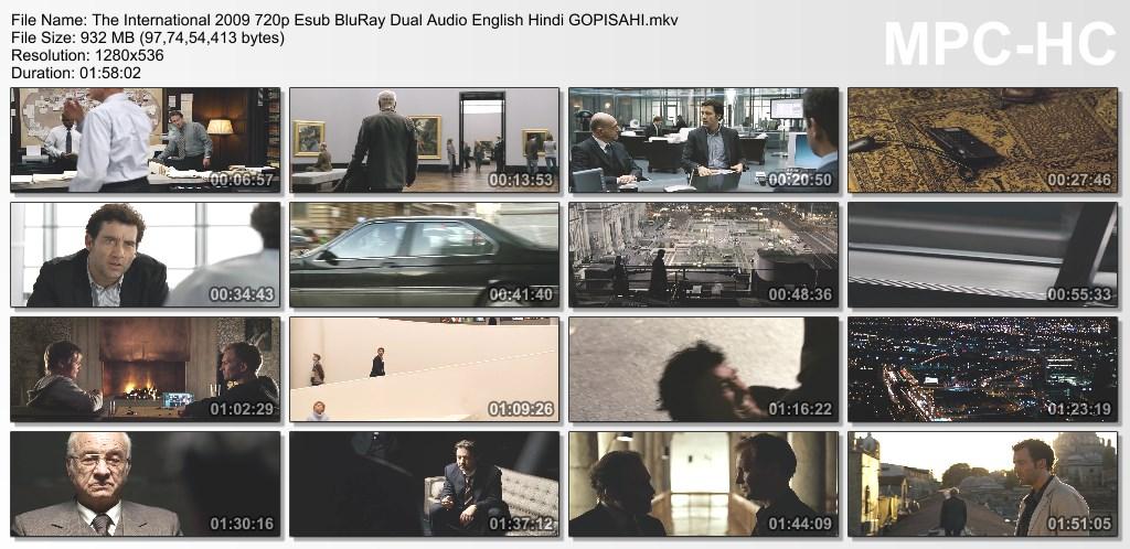 The International (2009) 720p BluRay x264 Esub [Dual Audio][Hindi+English] - GOPISAHI