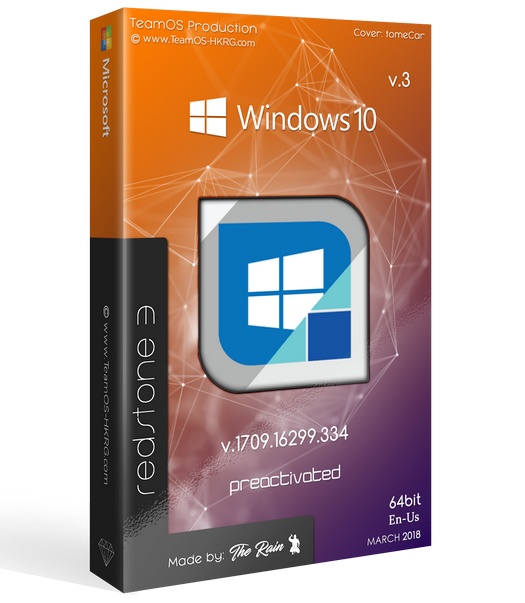 Windows 10 Pro RS3 v.1709.16299.334 En-us x64 March2018 V.3 Pre-Activated-=TEAM OS=-