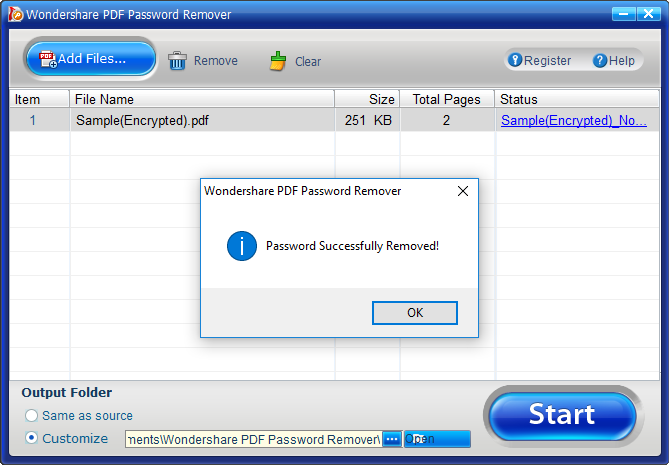 remove wondershare pdf password remover