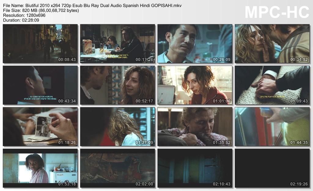 Biutiful (2010) 720p - BluRay - x264 - Esub [Dual Audio][Hindi+Spanish] - GOPISAH
