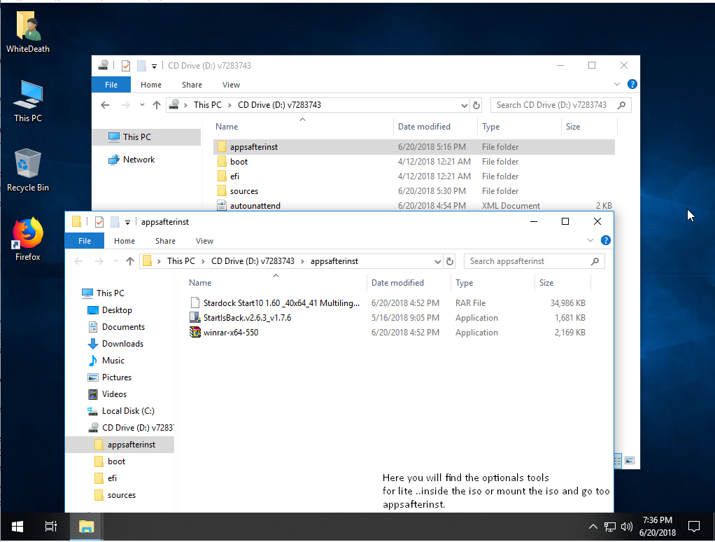 Torrent + Direct - Windows 10 Lite Edition V7 (x64) 2018