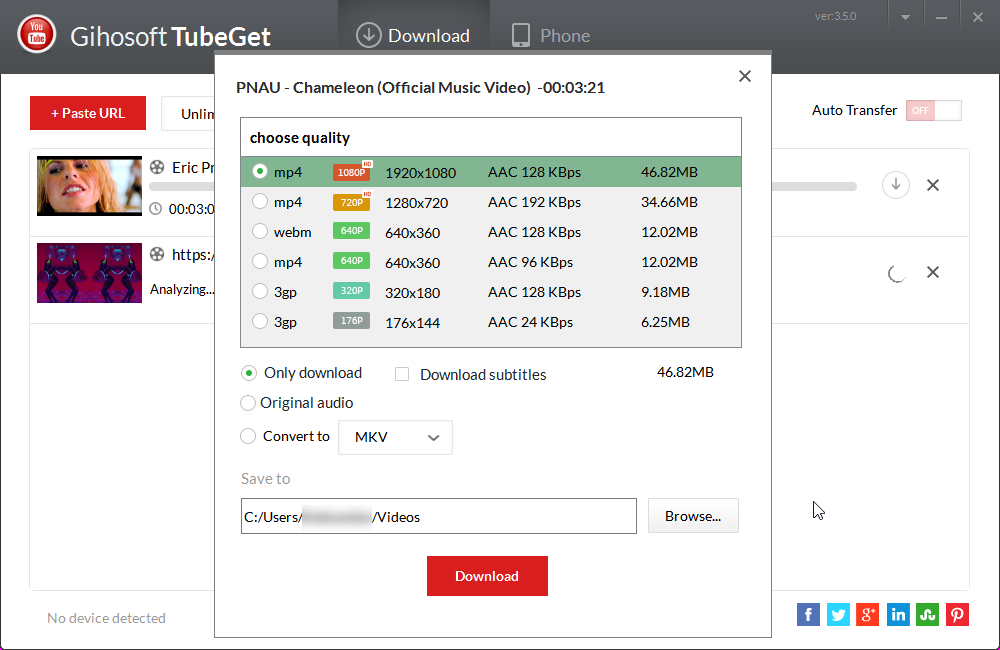 Direct - Gihosoft Tubeget Pro version 3 7 0 for Windows