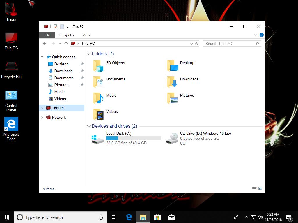 Direct - Windows 10 Rs5 En-us (nov 2018) Lite | Team OS : Your Only