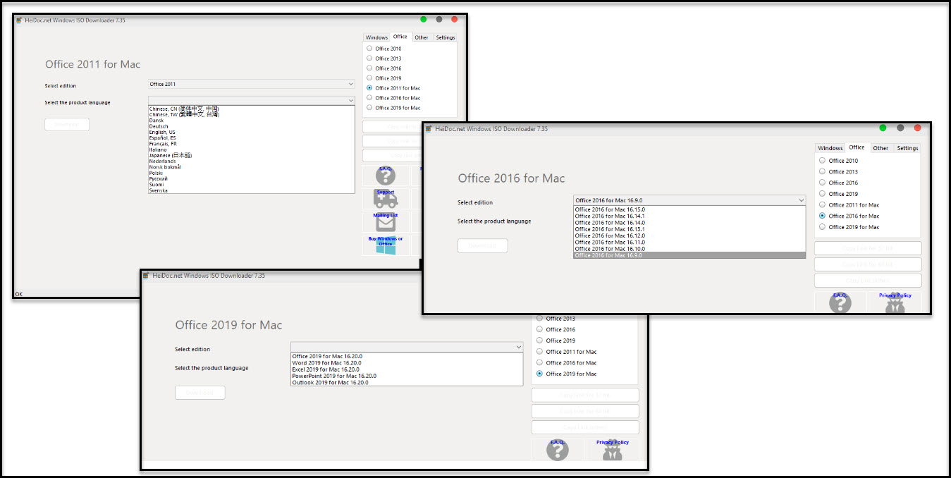 Direct - Microsoft Windows and Office ISO Download Tool version 8 01