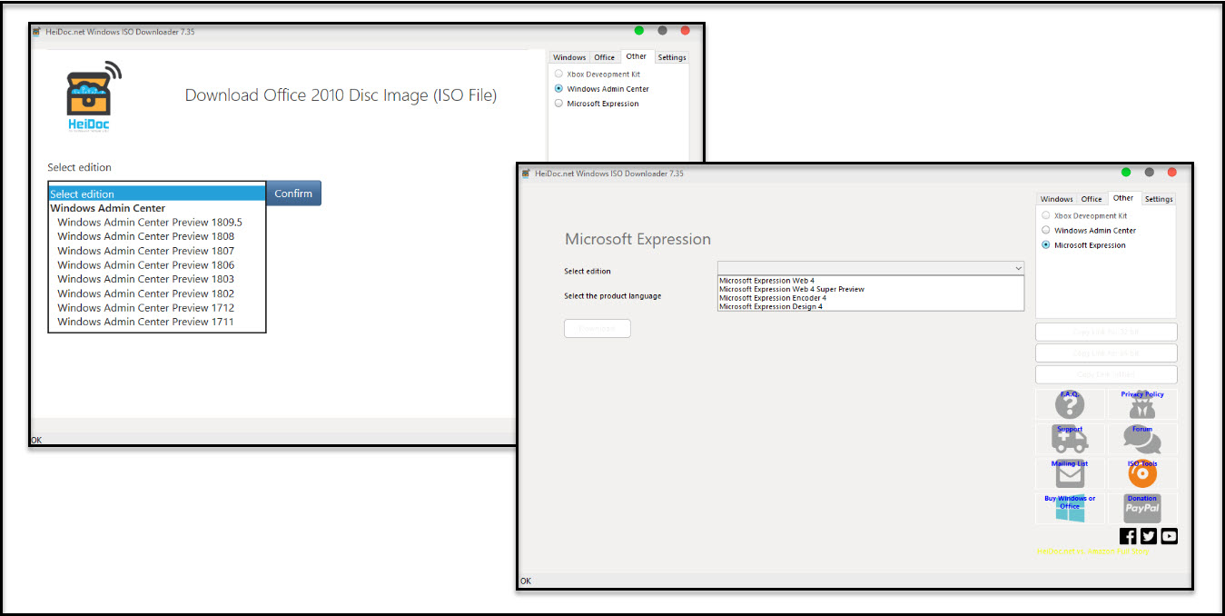 Direct - Microsoft Windows and Office ISO Download Tool