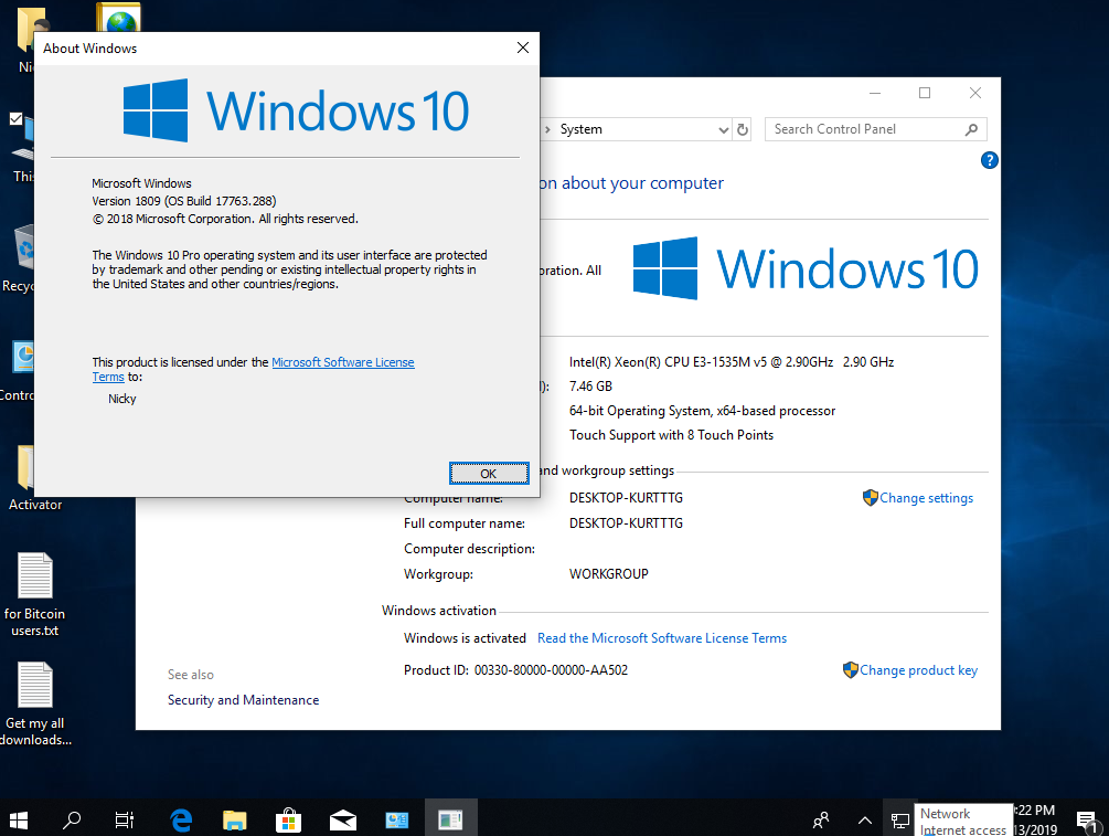 Torrent + Direct - Windows 10 Pro RS5 v 1809 17763 288 Multi