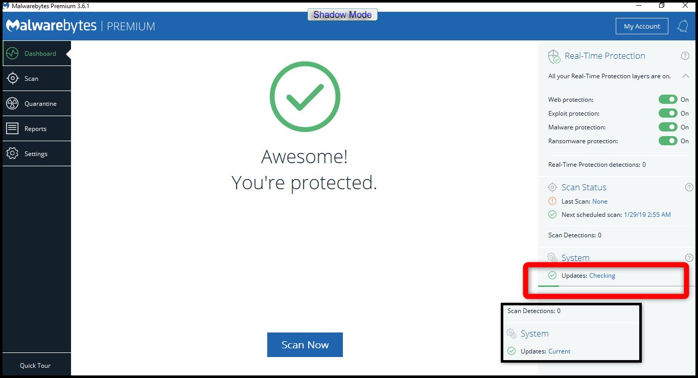 malwarebytes premium real time protection disabled