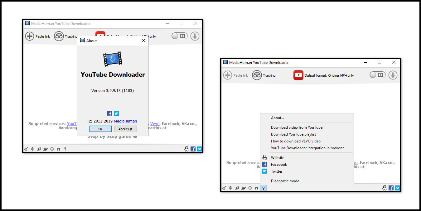 Direct - MediaHuman YouTube Downloader version 3 9 9 13 (1103