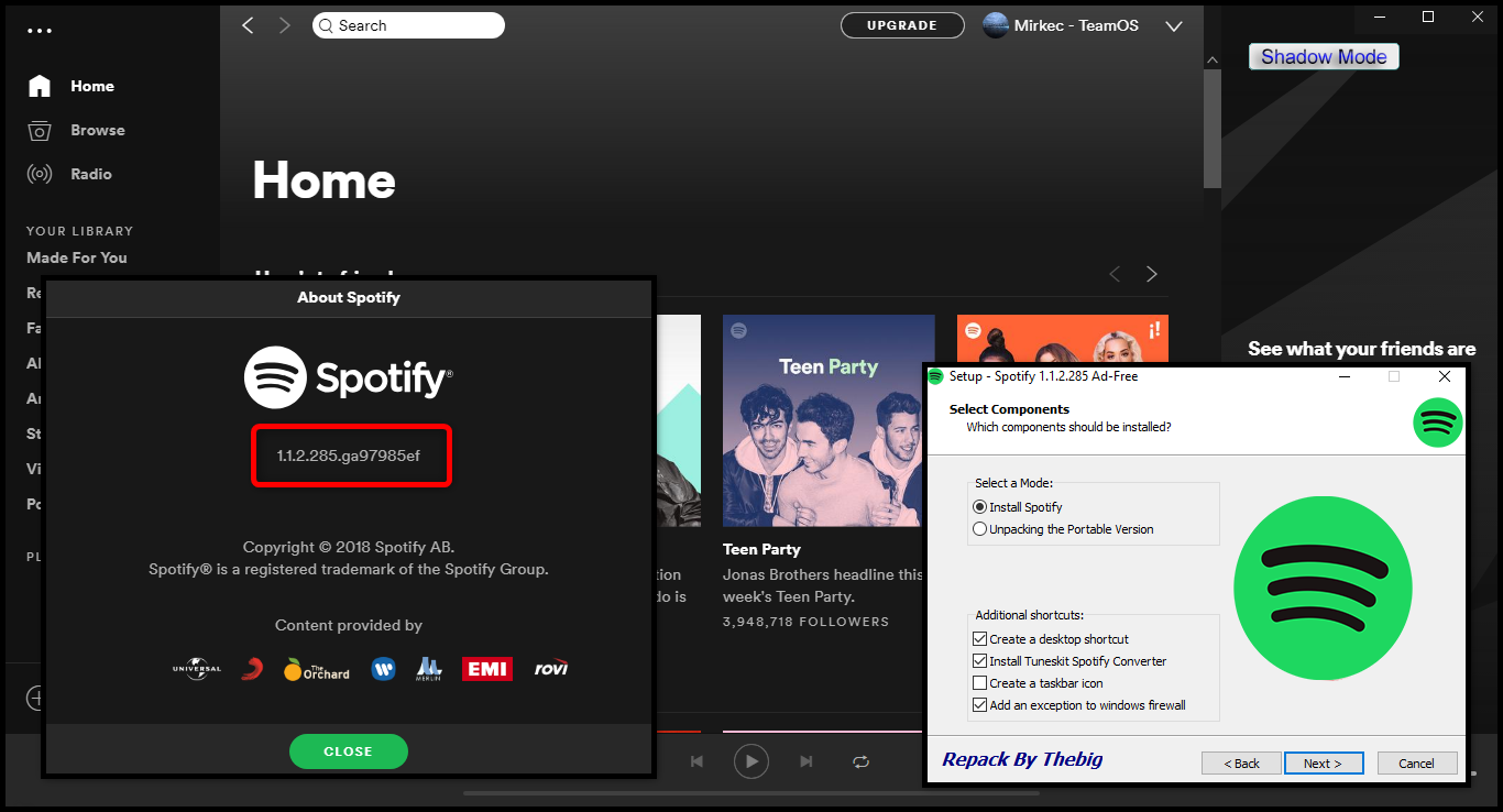 Direct - Spotify version 1 1 2 285 (Ad-Free) + Portable