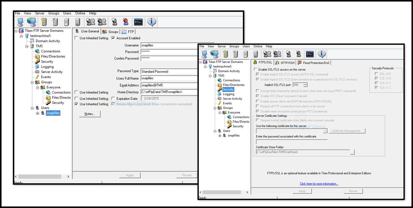 Direct - Titan FTP Server Enterprise 2019 Build 3515 (32