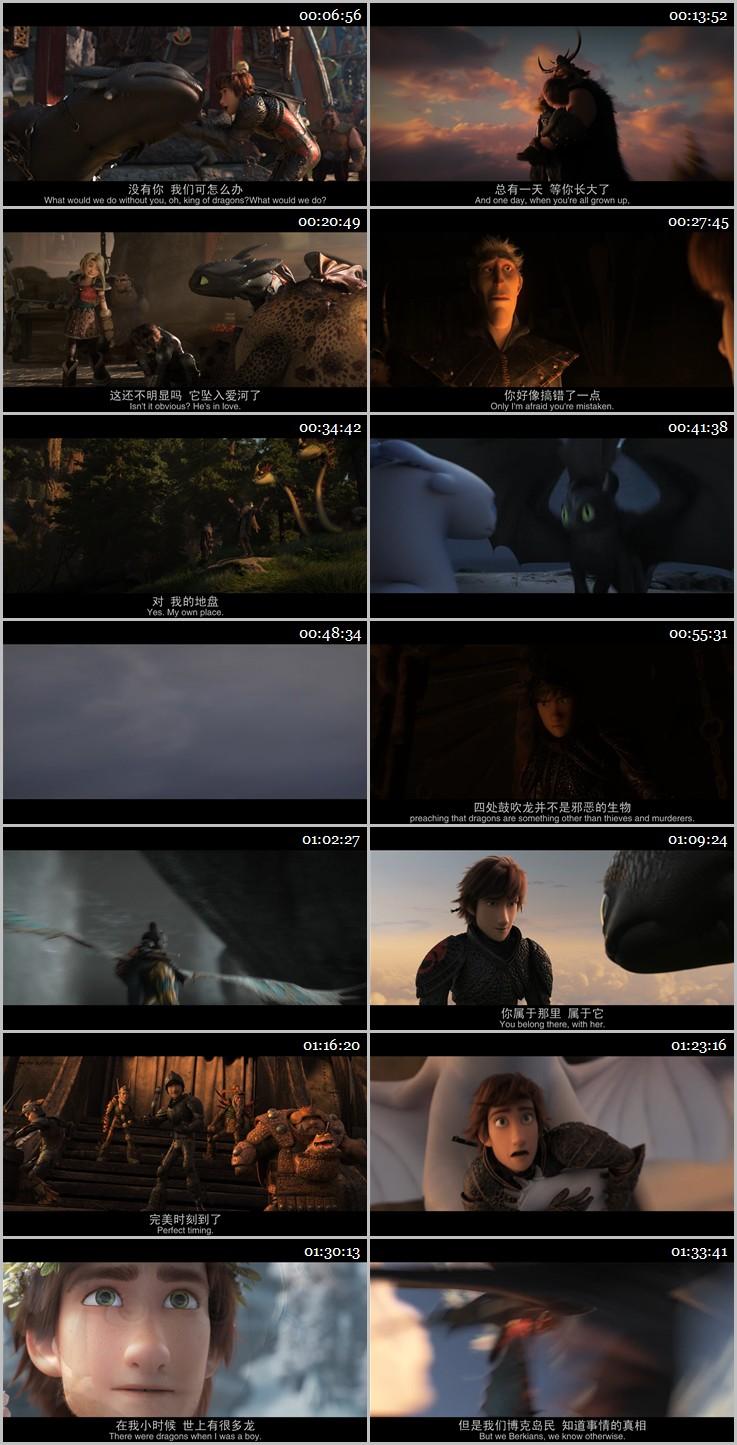 2019年奇幻动画《驯龙高手3》BD中英双字幕