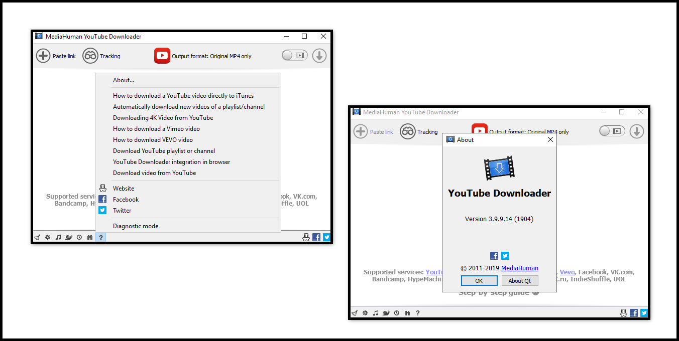 Direct - MediaHuman YouTube Downloader version 3 9 9 14 (1904) +