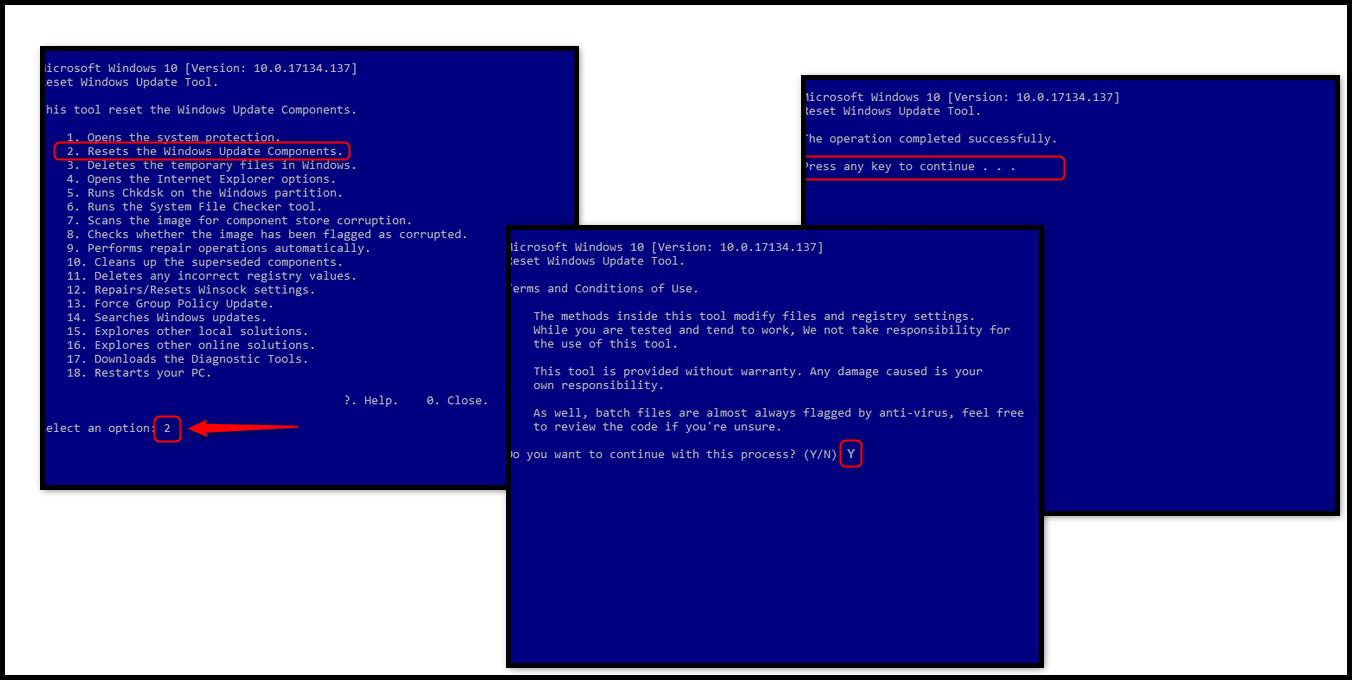 Reset windows 10 update script | Update reset tool  2019-04-28