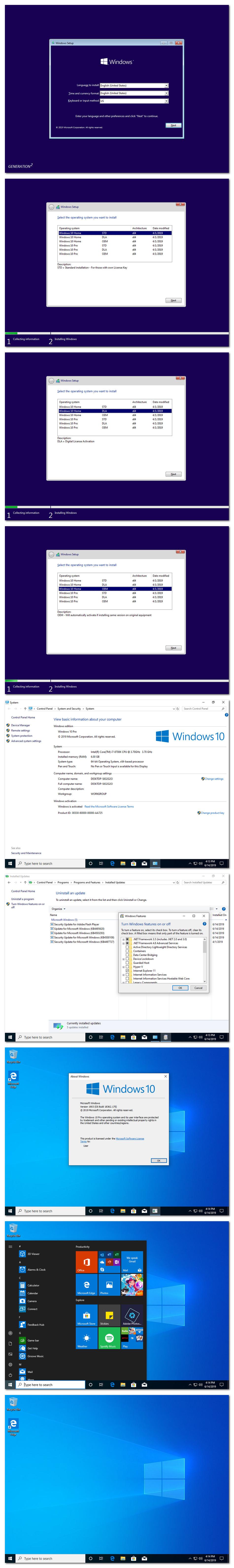 Download Windows 10 Home Pro 19H1 X64 OEM ESD en-US JUNE 2019 {Gen2