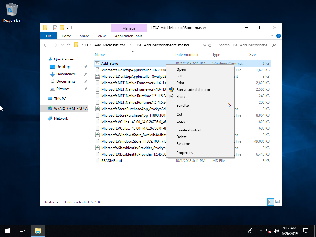 Direct - Add Microsoft Windows Store to Windows 10 LTSC