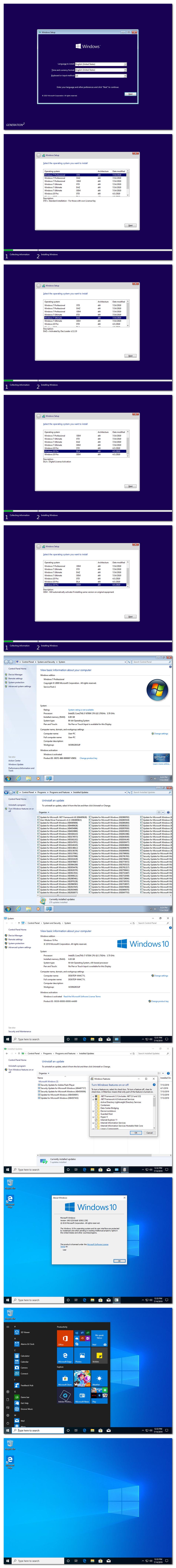 Windows 7 10 X86 X64 18in1 DUAL BOOT en-US JULY 2019 {Gen2}