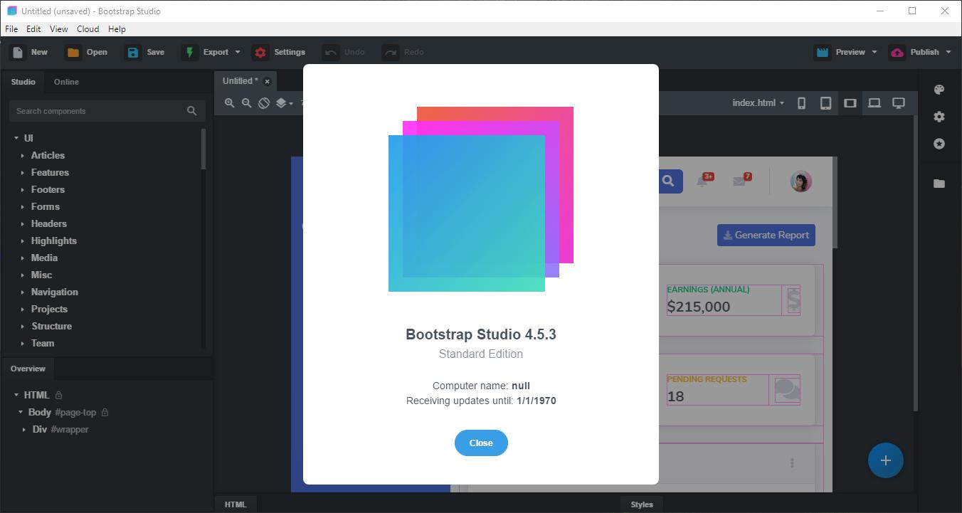 Direct - Bootstrap Studio 4 5 3 [x86/x64] + crack -=TeamOS