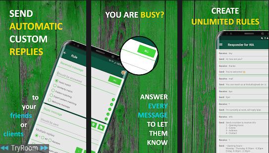 AutoResponder for WA - Auto Reply Bot v1 3 7 (Android) [Mod] | Board4All