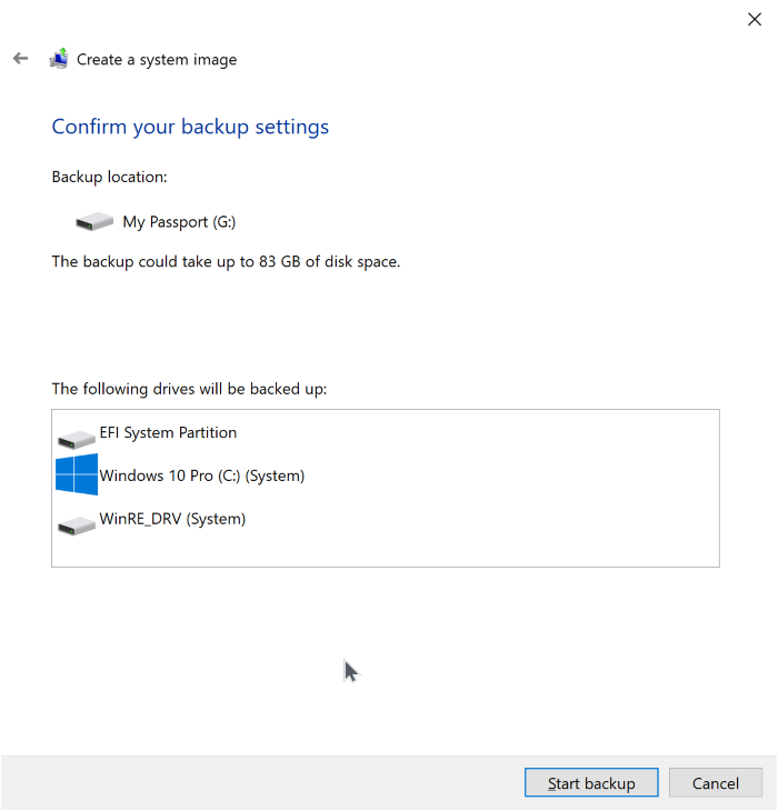 Tutorials - How To Create Windows 10 System Image Backup