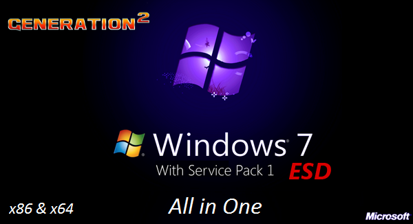 Microsoft Windows 7 SP1 AIO 22in1 ESD en-US NOV 2019 (x86/x64)