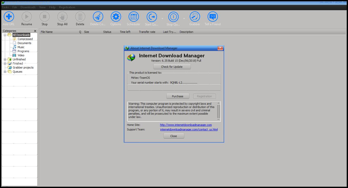 Torrent + Direct - Internet Download Manager version 6 35