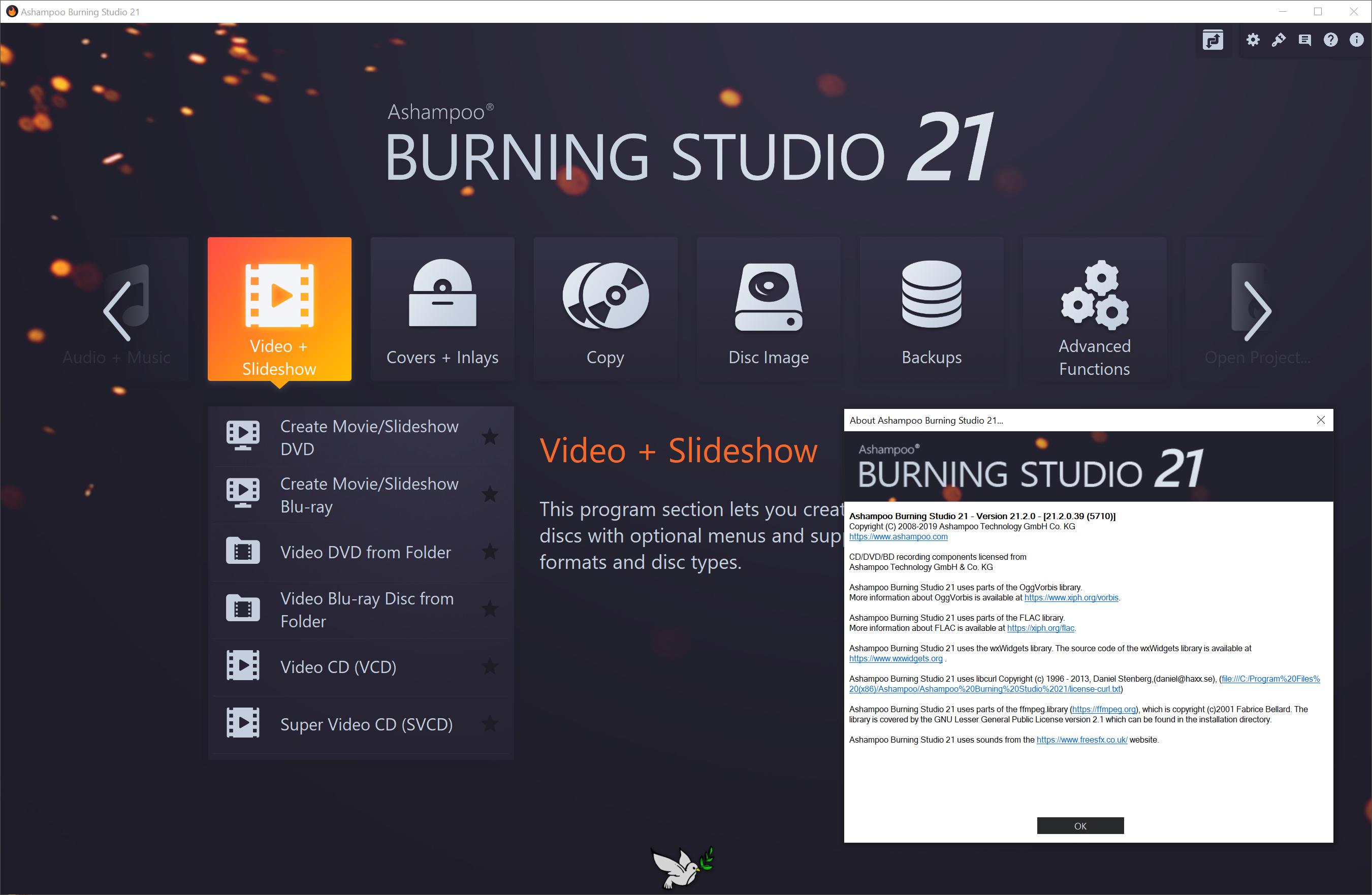 """Résultat de recherche d'images pour """"Ashampoo Burning Studio 21"""""""