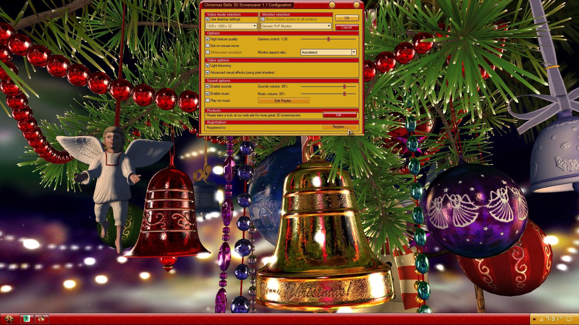Direct Christmas Bells Screensaver Animated Wallpaper