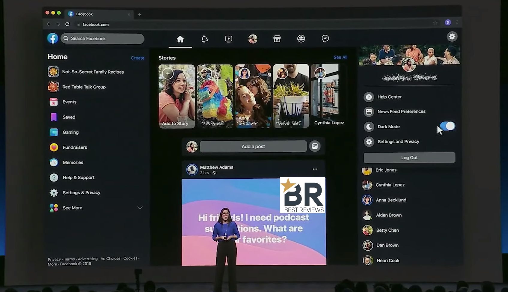 Facebook Dark mode and New Design is rolling out for Desktop