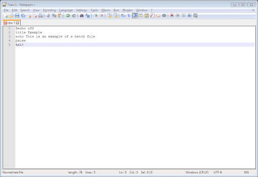 Notepad++ Commands
