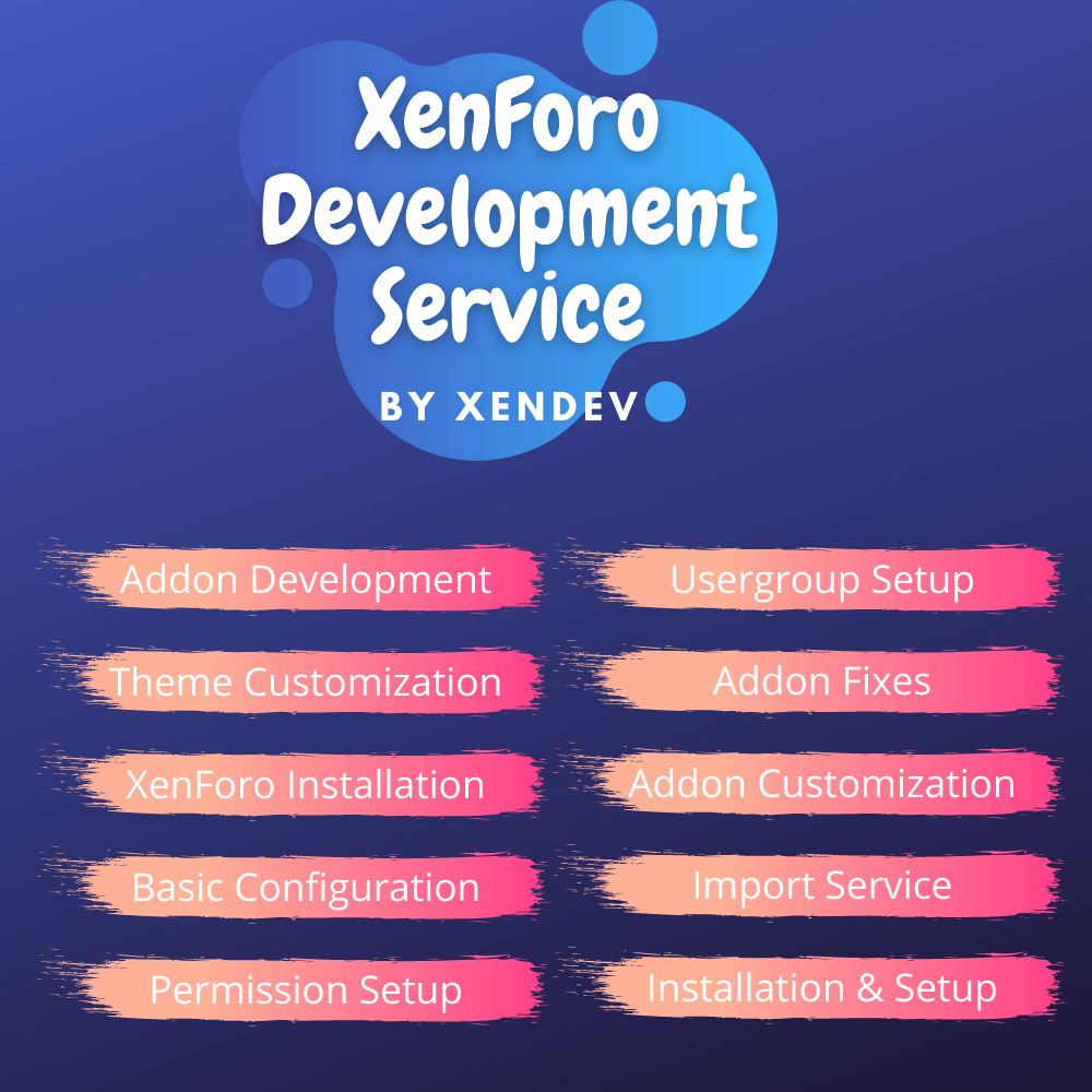 XenForo Development Service by XenDev